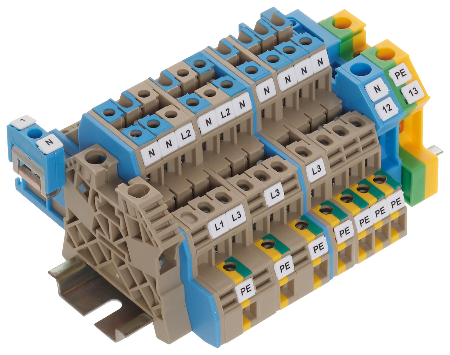 3-wire installation hybrid terminals - DLIS 2.5mm²