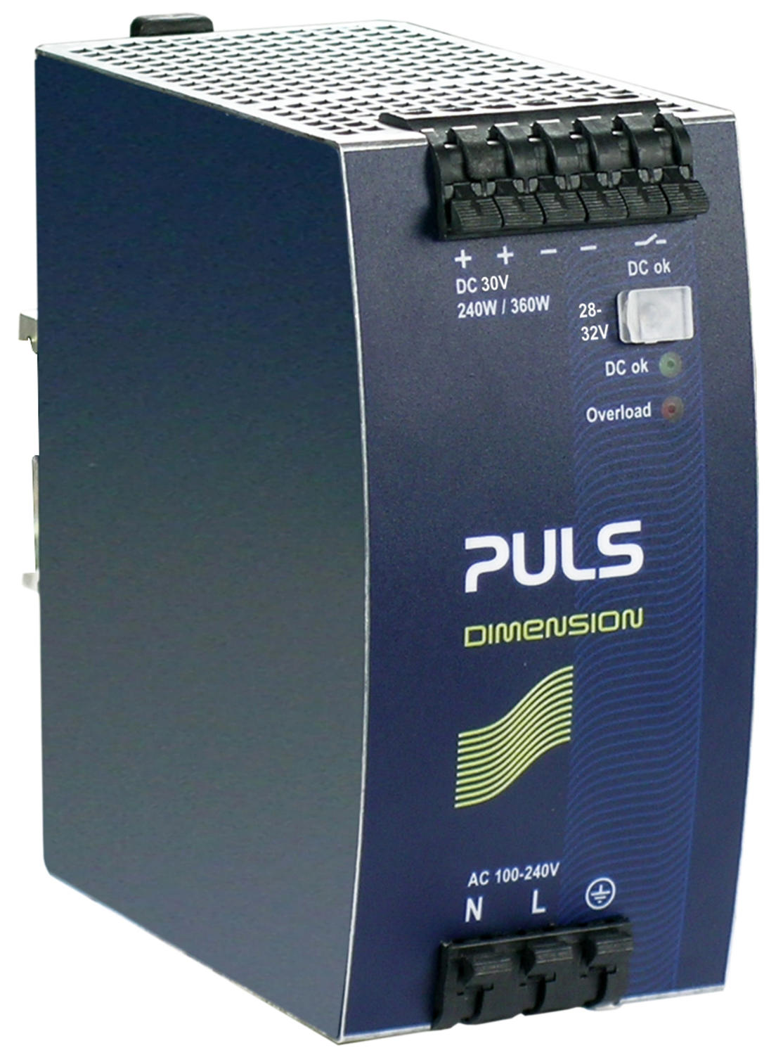 Power supply 1-phase, 30 V dc Dimension Q Series