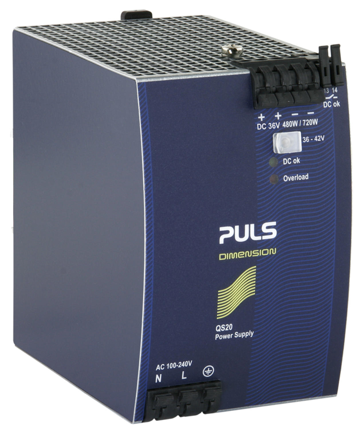 Power supply 1-phase, 36 V dc Dimension Q series