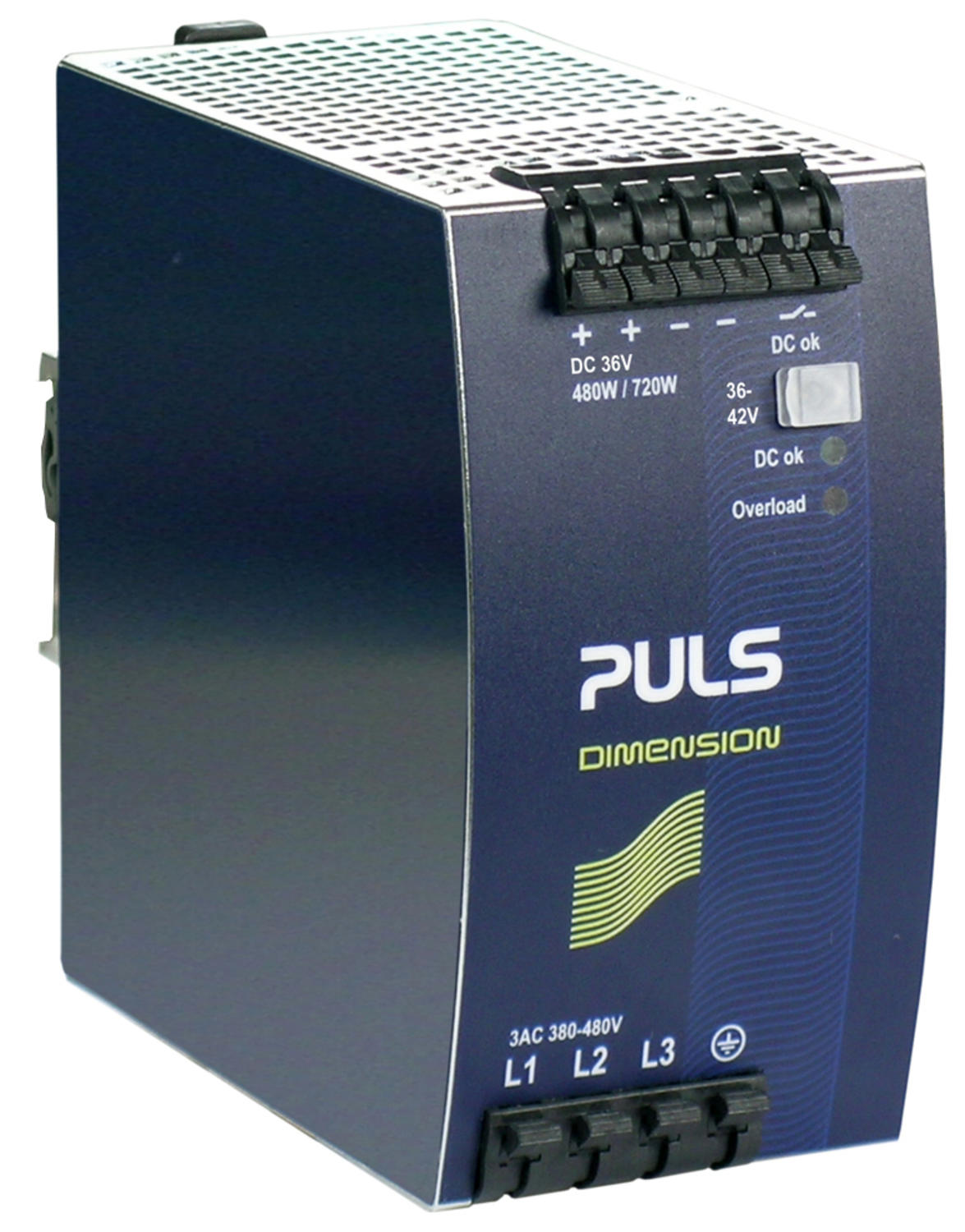 Power supply 3-phase, 36 V dc Dimension Q Series