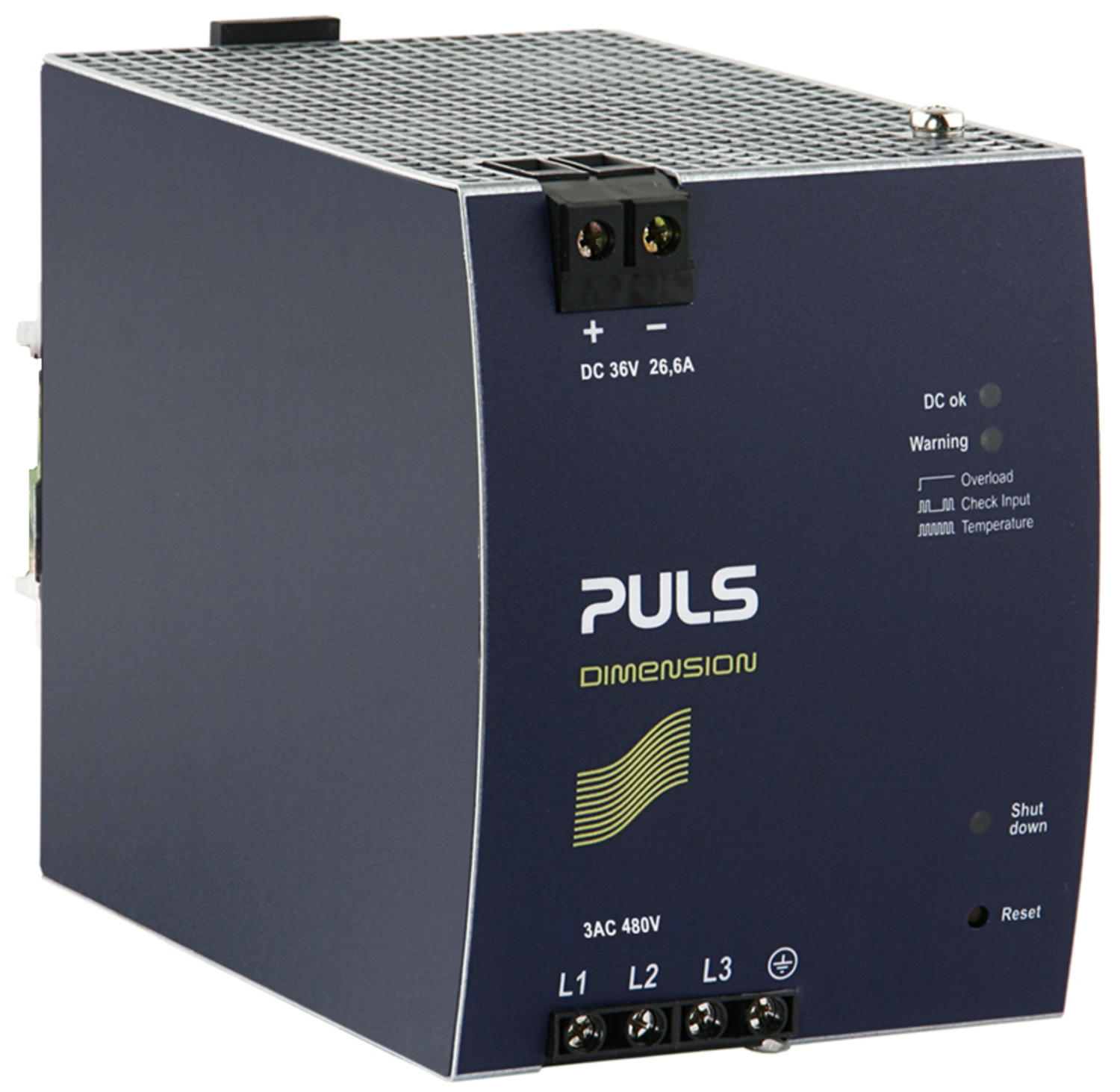 Power supply 3-phase, 36 V DC Dimension X Series